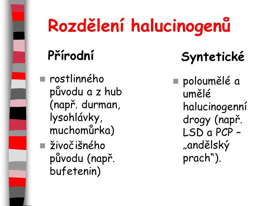 Rozdělení halucinogenů