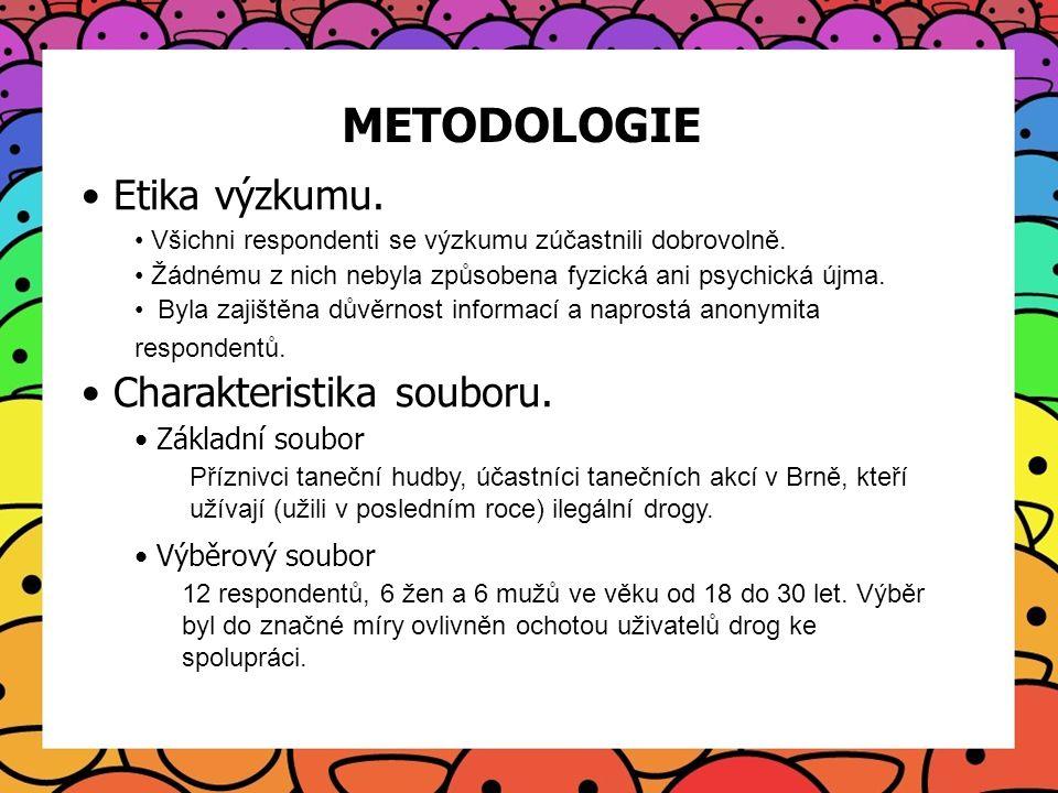 METODOLOGIE Etika výzkumu. Charakteristika souboru. Základní soubor