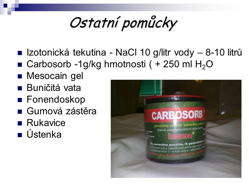 Ostatní pomůcky Izotonická tekutina - NaCl 10 g/litr vody – 8-10 litrů