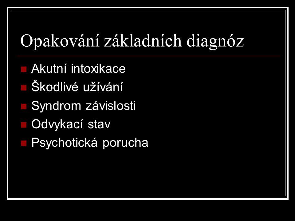 Opakování základních diagnóz