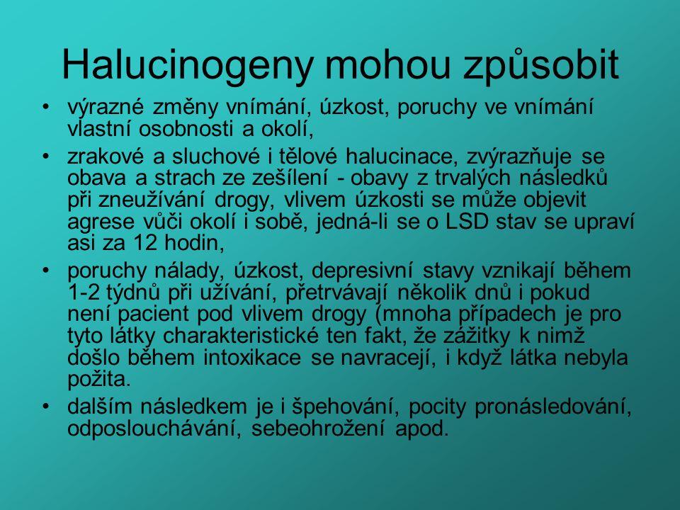 Halucinogeny mohou způsobit