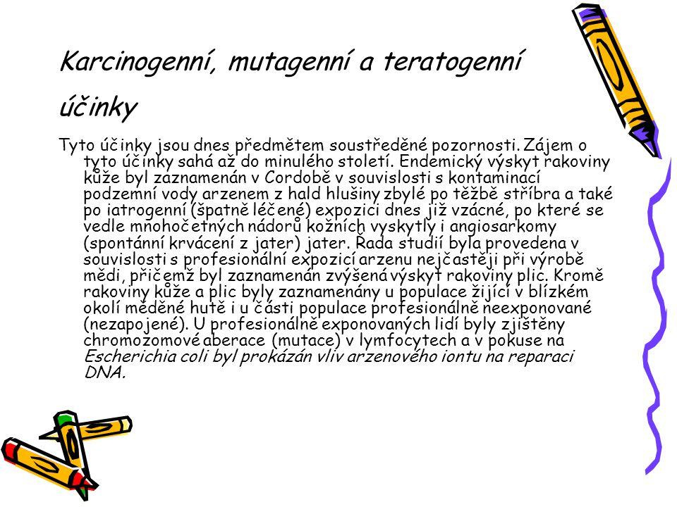 Karcinogenní, mutagenní a teratogenní účinky