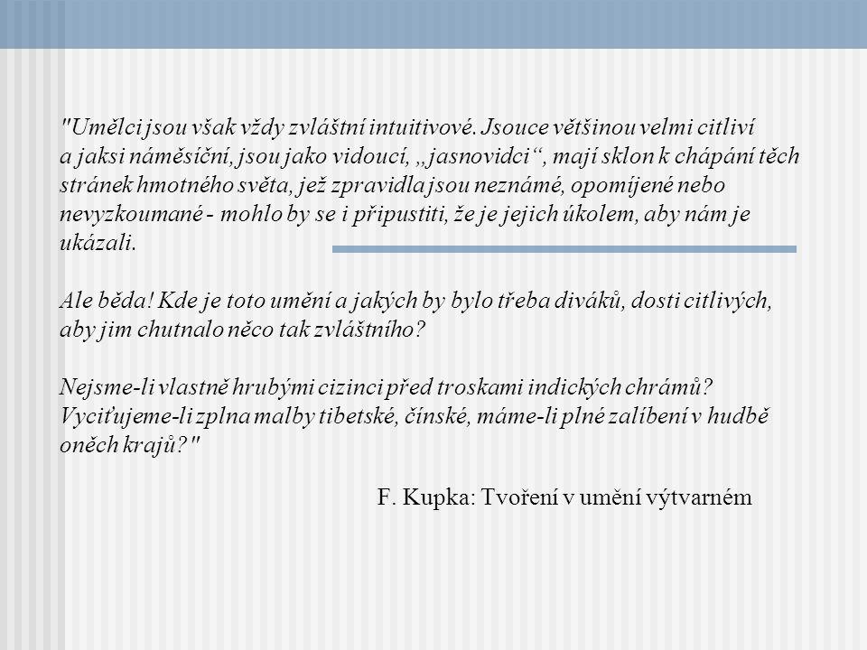 F. Kupka: Tvoření v umění výtvarném