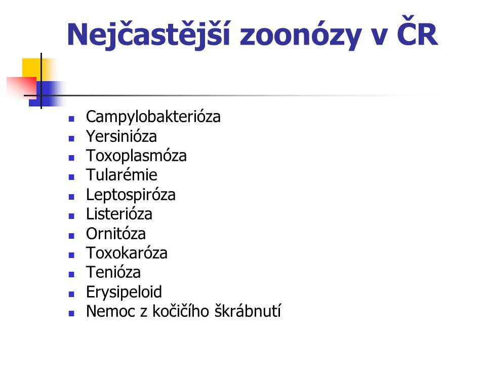 Nejčastější zoonózy v ČR
