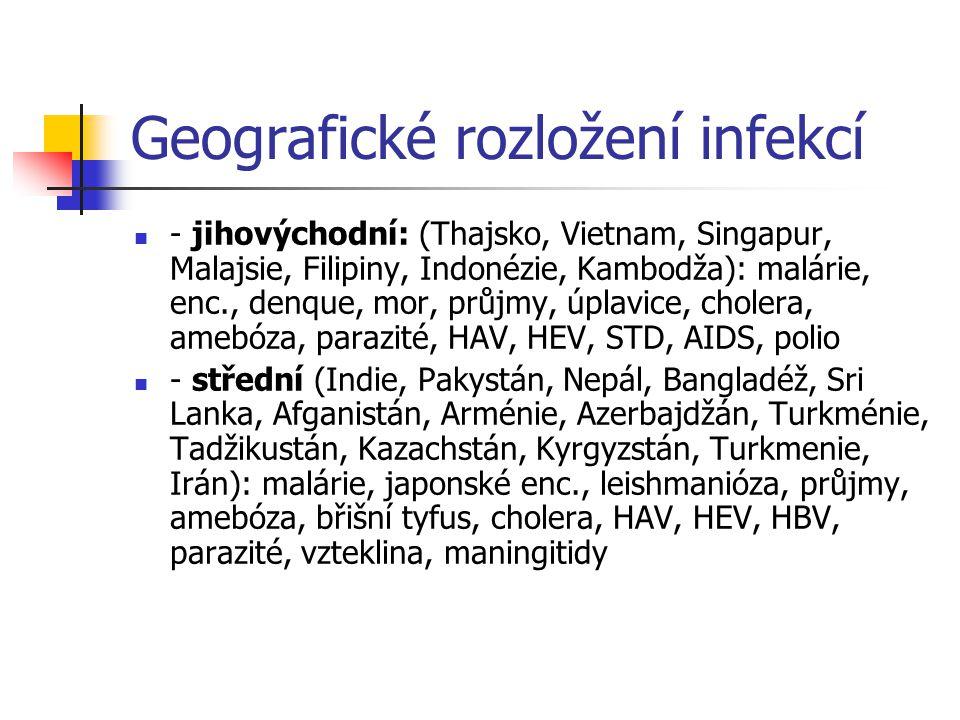 Geografické rozložení infekcí