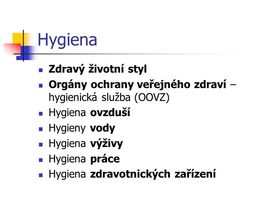 Hygiena Zdravý životní styl