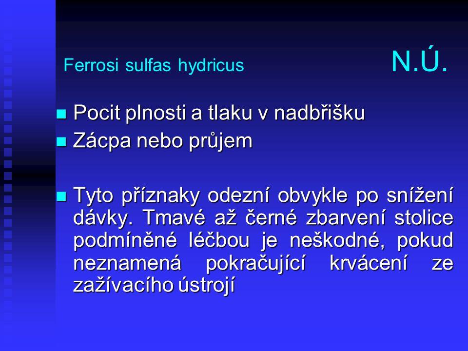 Ferrosi sulfas hydricus N.Ú.