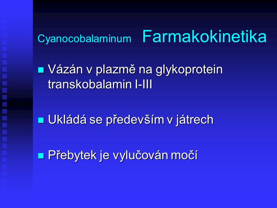 Cyanocobalaminum Farmakokinetika