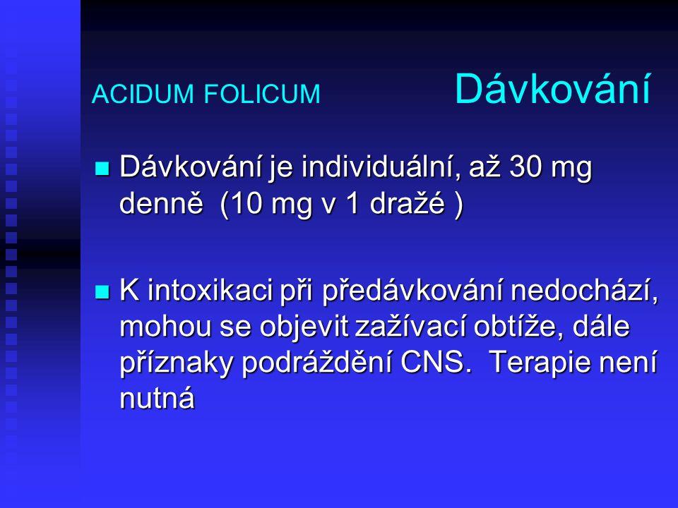 ACIDUM FOLICUM Dávkování