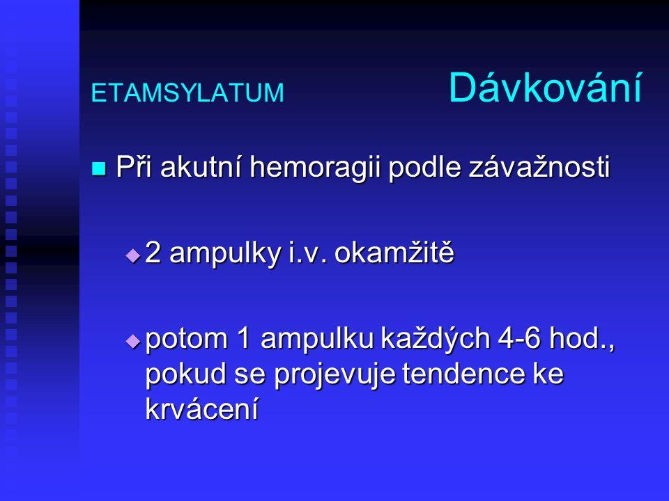 ETAMSYLATUM Dávkování