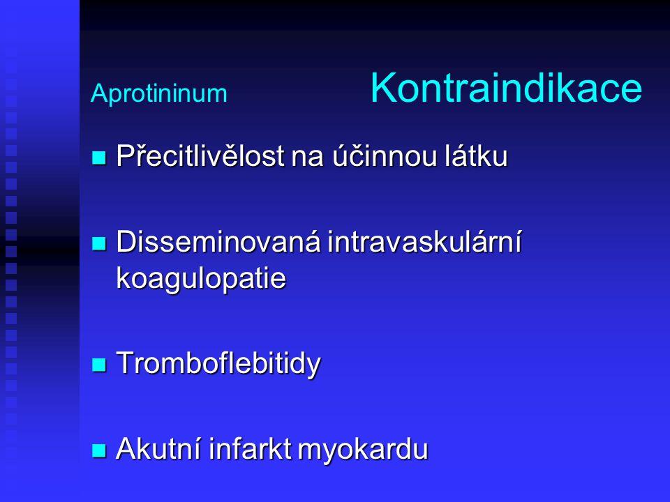 Aprotininum Kontraindikace