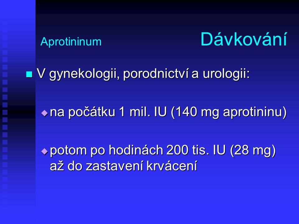 Aprotininum Dávkování