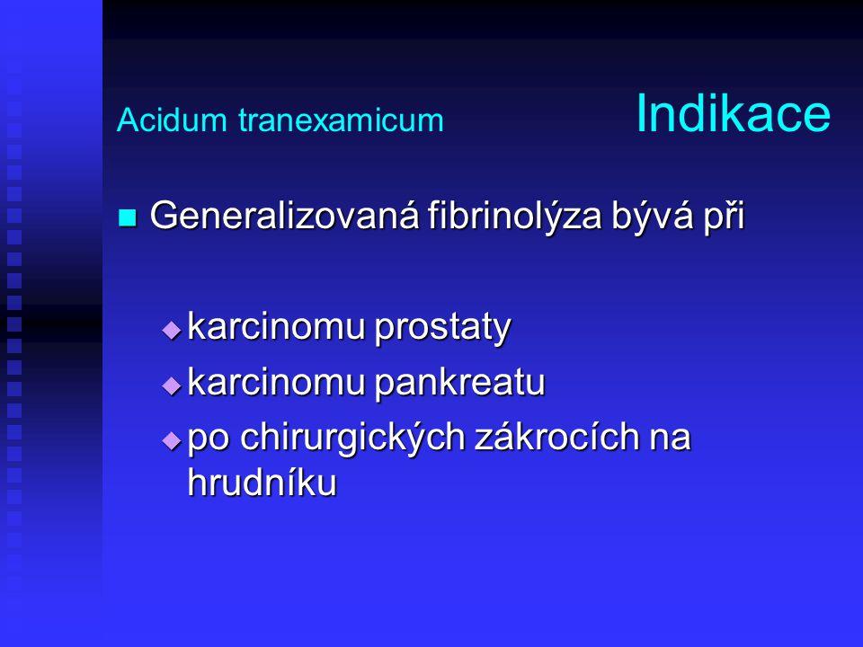 Acidum tranexamicum Indikace