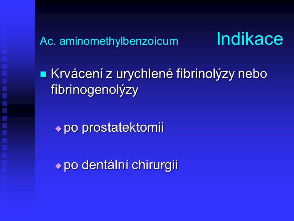 Ac. aminomethylbenzoicum Indikace