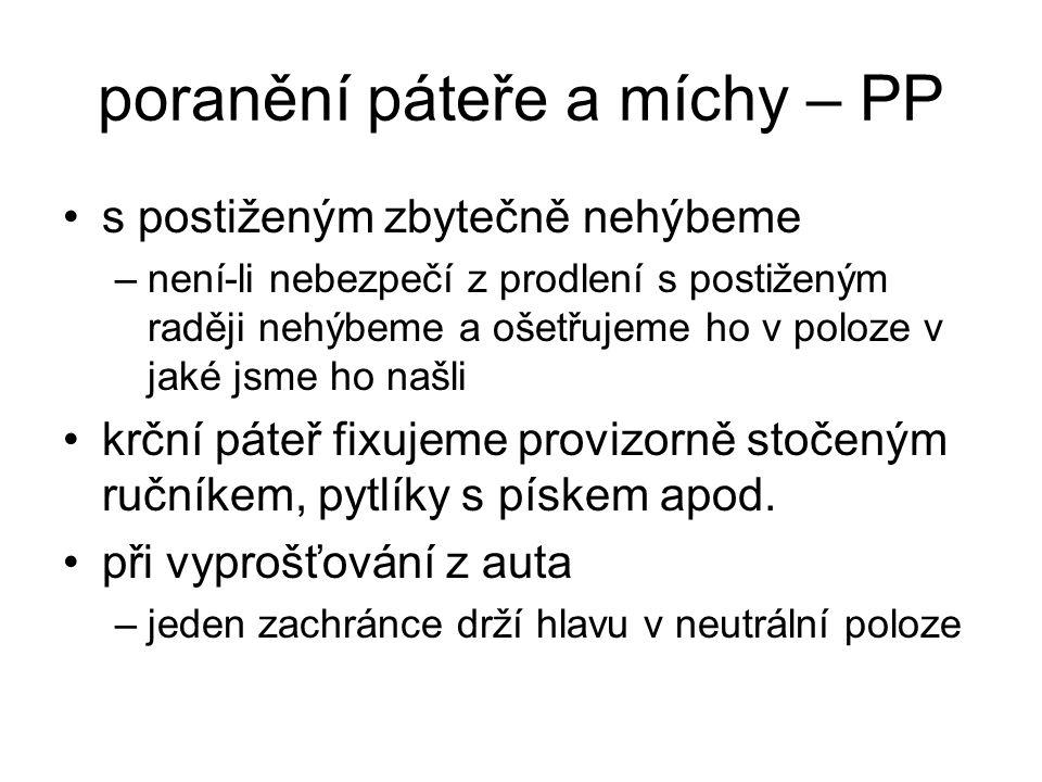poranění páteře a míchy – PP