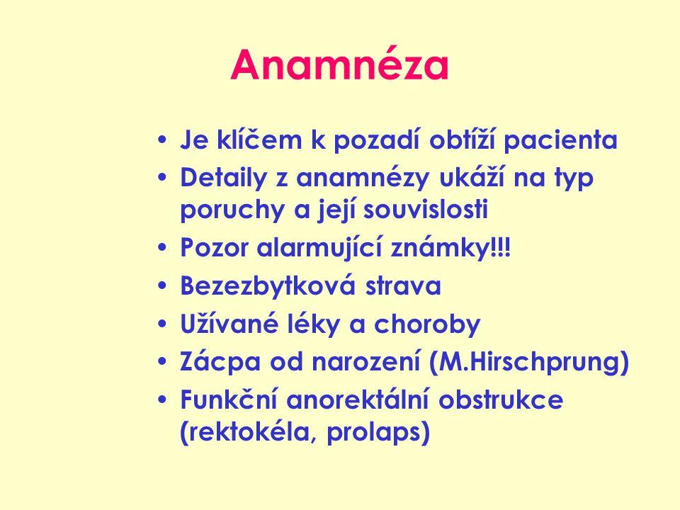 Anamnéza Je klíčem k pozadí obtíží pacienta