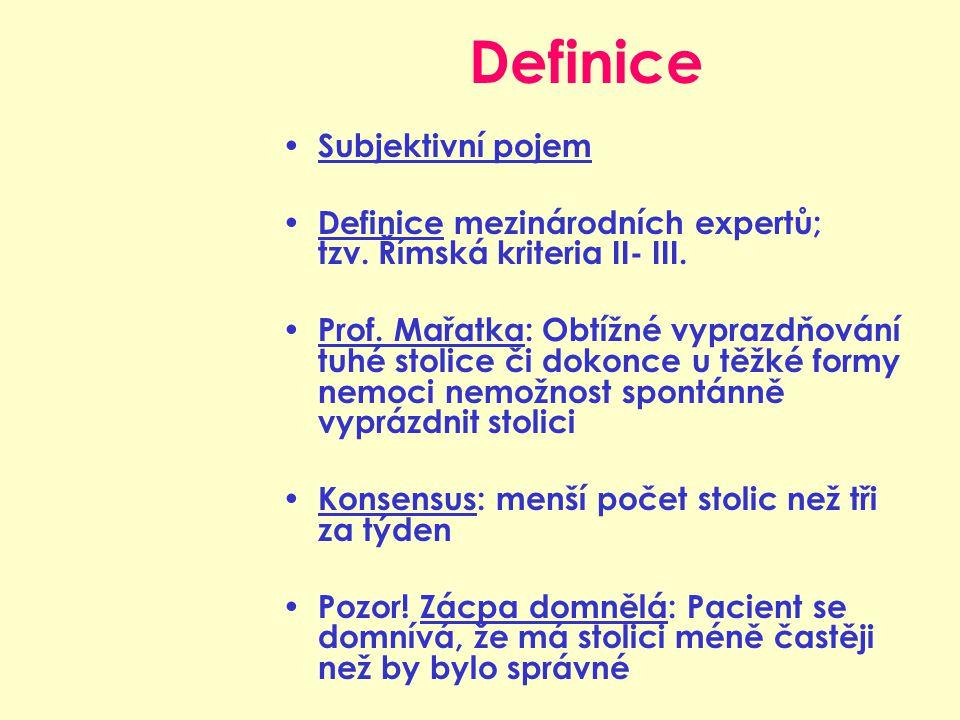 Definice Subjektivní pojem