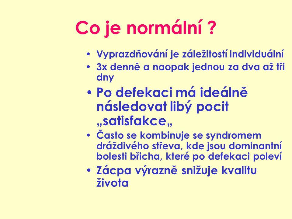 Co je normální Vyprazdňování je záležitostí individuální. 3x denně a naopak jednou za dva až tři dny.