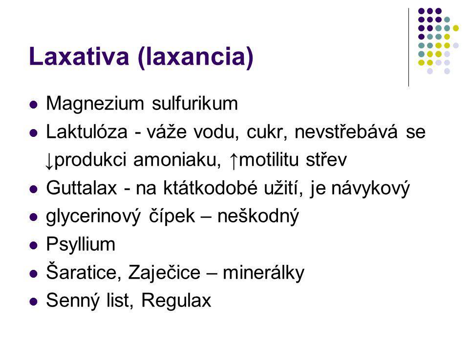 Laxativa (laxancia) Magnezium sulfurikum