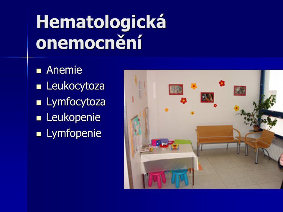Hematologická onemocnění