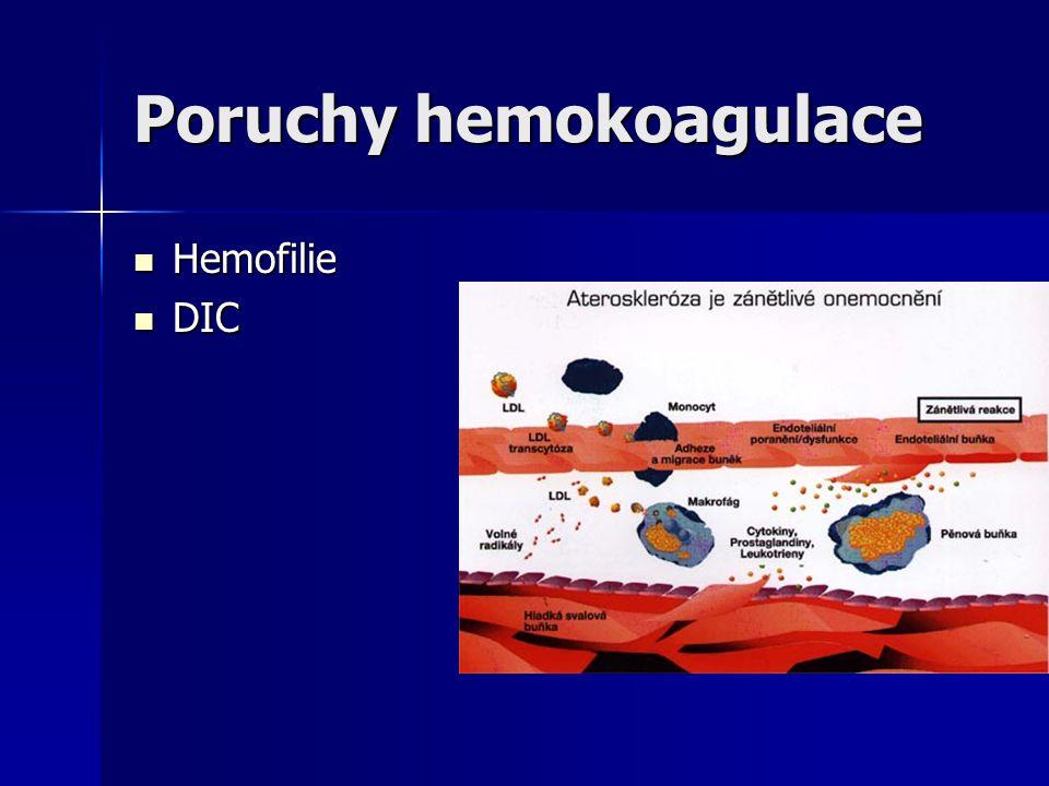 Poruchy hemokoagulace