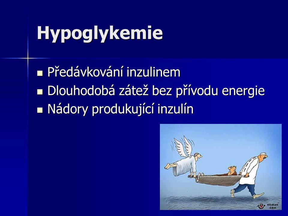 Hypoglykemie Předávkování inzulinem