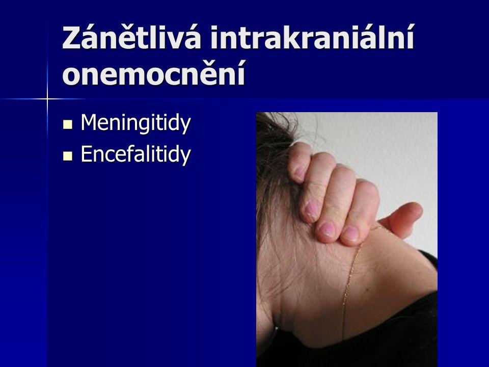 Zánětlivá intrakraniální onemocnění