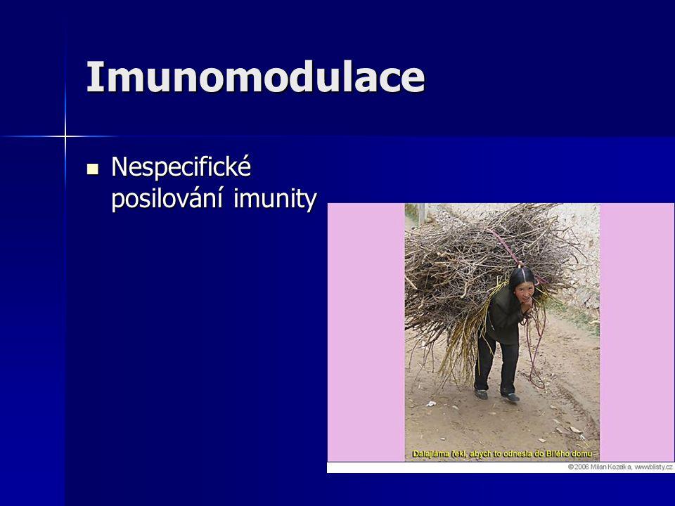 Imunomodulace Nespecifické posilování imunity