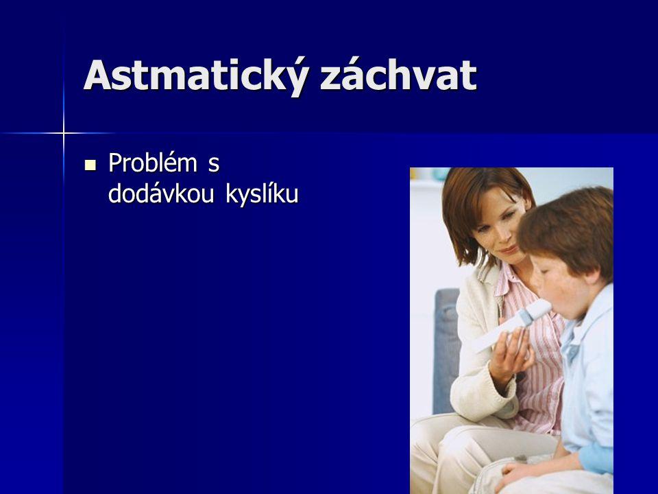 Astmatický záchvat Problém s dodávkou kyslíku