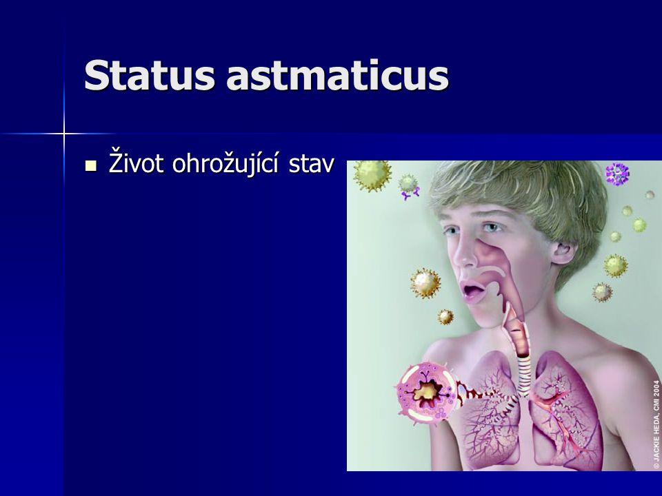 Status astmaticus Život ohrožující stav