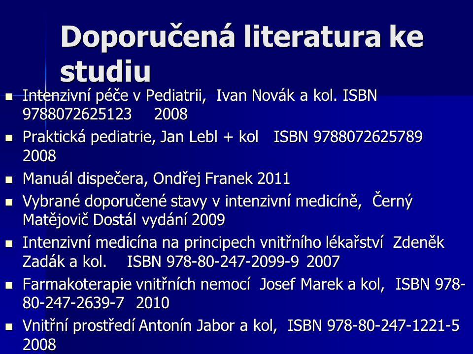 Doporučená literatura ke studiu