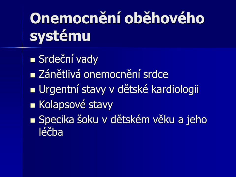 Onemocnění oběhového systému