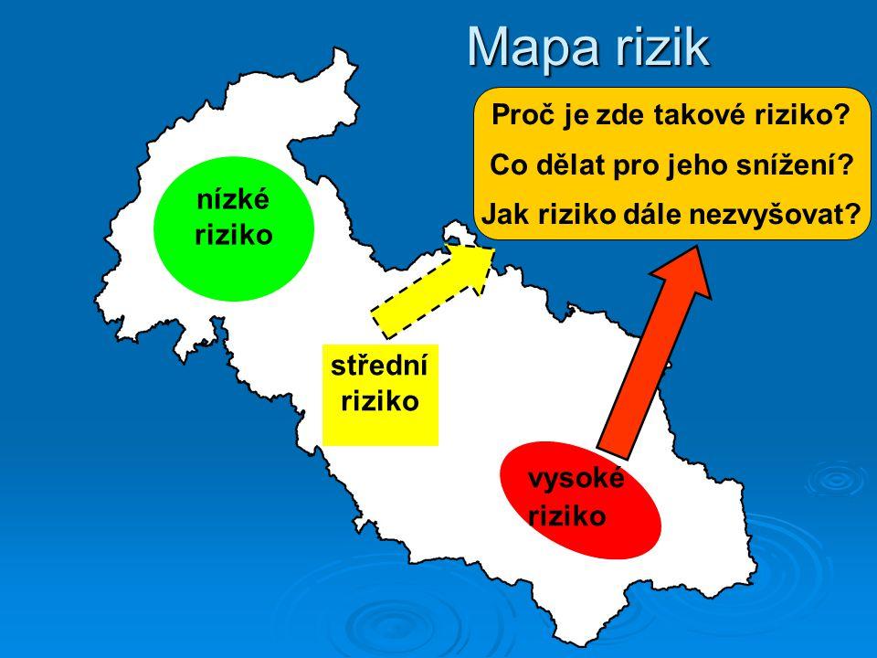 Mapa rizik Proč je zde takové riziko Co dělat pro jeho snížení