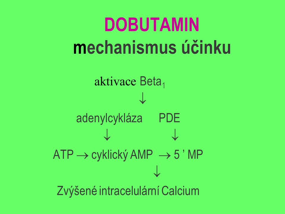 DOBUTAMIN mechanismus účinku