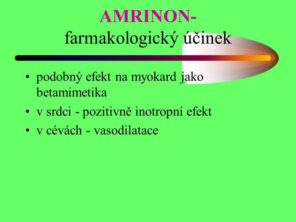 AMRINON- farmakologický účinek