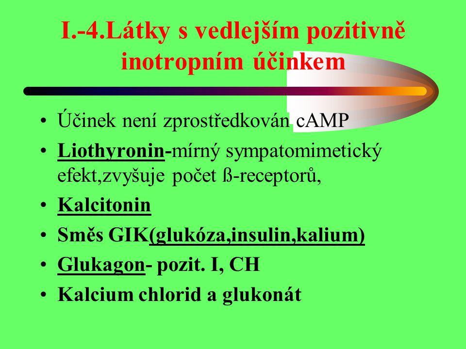 I.-4.Látky s vedlejším pozitivně inotropním účinkem