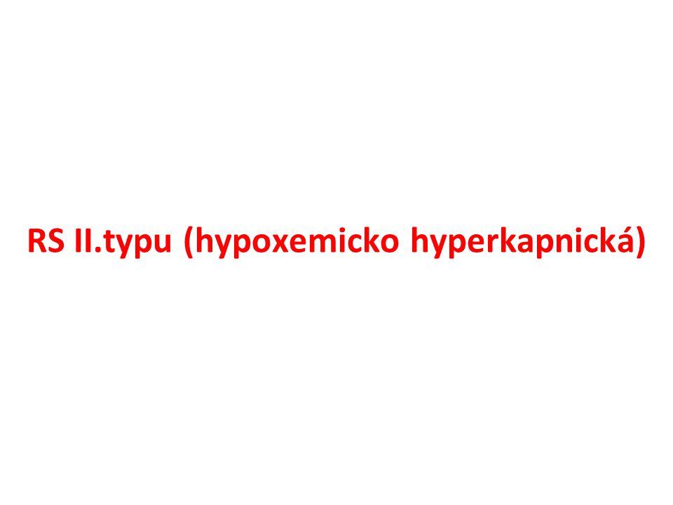RS II.typu (hypoxemicko hyperkapnická)