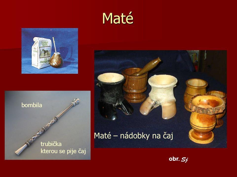 Maté bombila Maté – nádobky na čaj trubička kterou se pije čaj obr. Sj