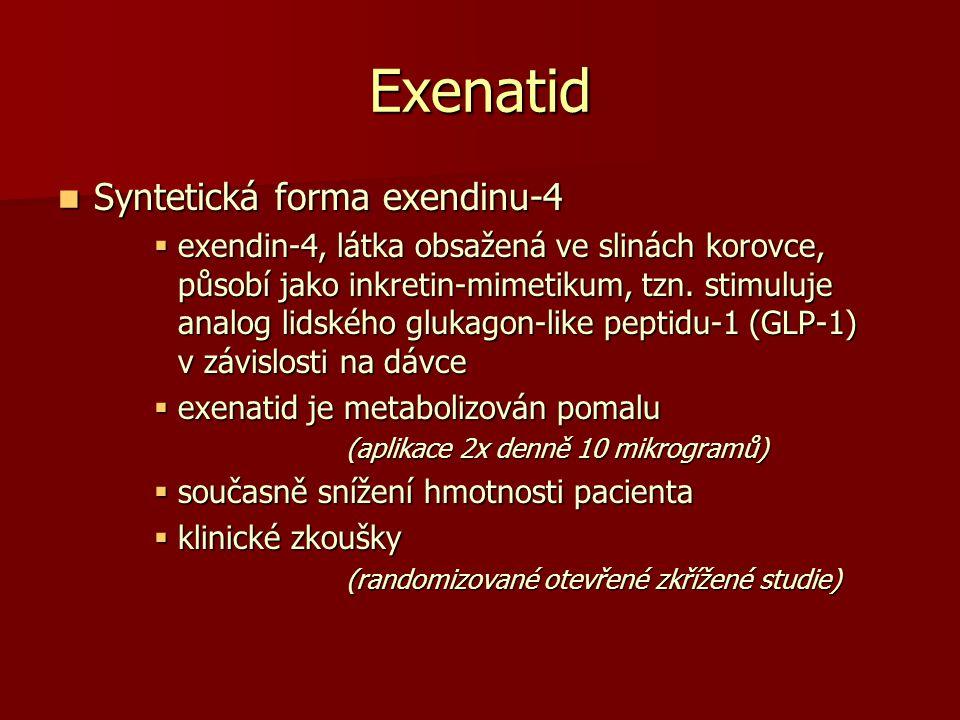 Exenatid Syntetická forma exendinu-4