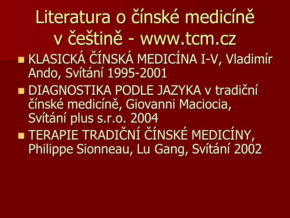 Literatura o čínské medicíně v češtině - www.tcm.cz