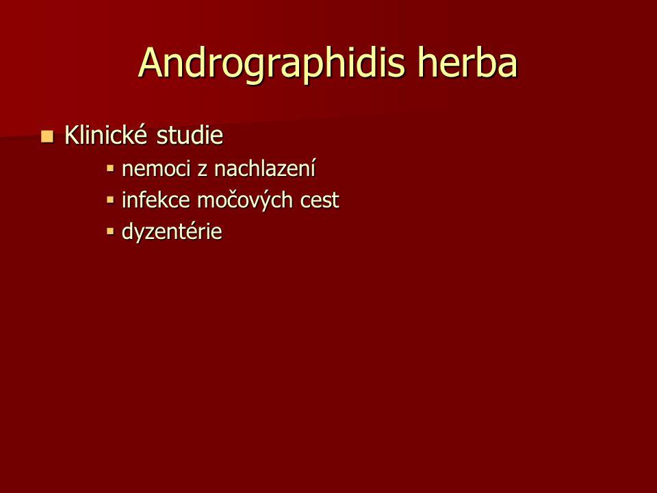 Andrographidis herba Klinické studie nemoci z nachlazení