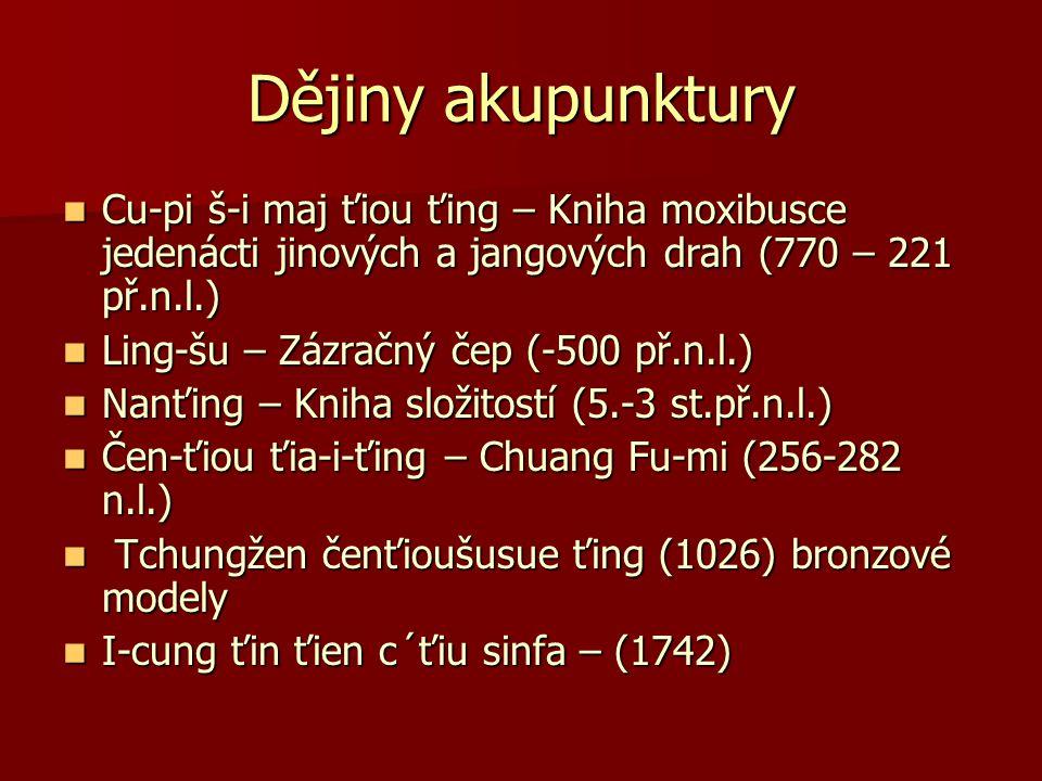 Dějiny akupunktury Cu-pi š-i maj ťiou ťing – Kniha moxibusce jedenácti jinových a jangových drah (770 – 221 př.n.l.)