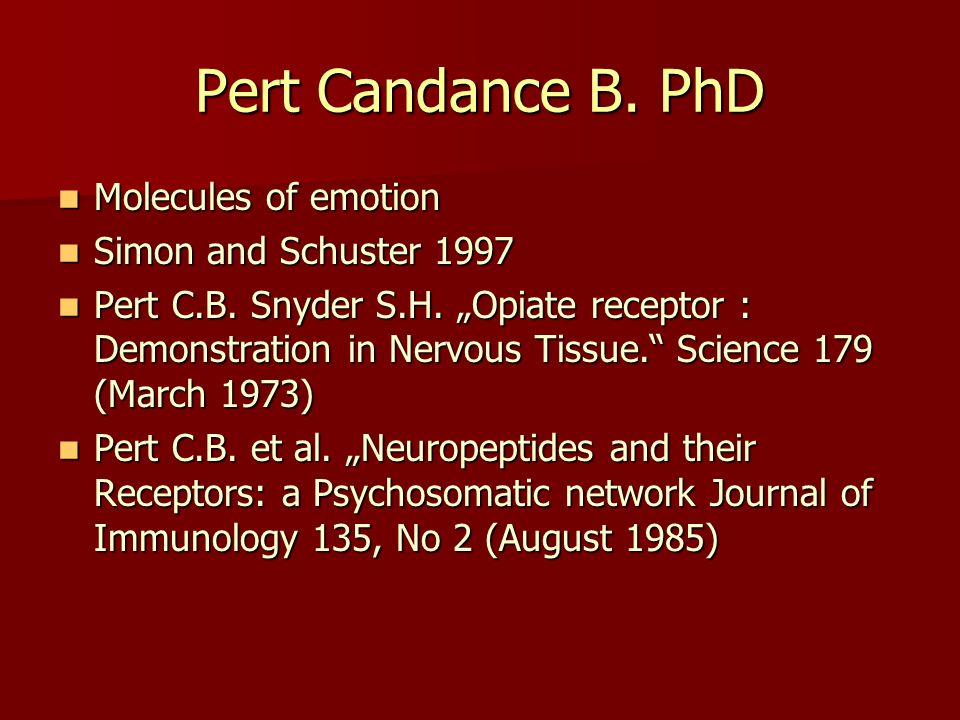 Pert Candance B. PhD Molecules of emotion Simon and Schuster 1997