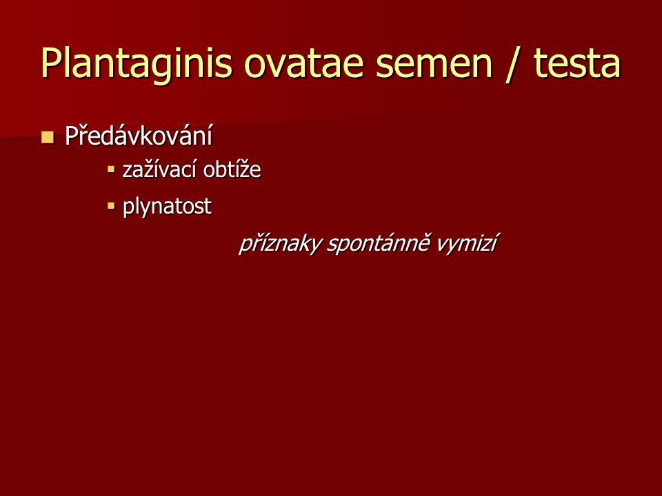 Plantaginis ovatae semen / testa