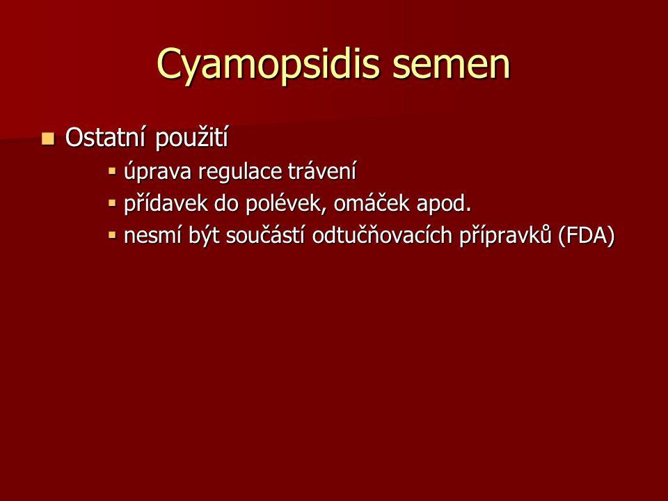 Cyamopsidis semen Ostatní použití úprava regulace trávení
