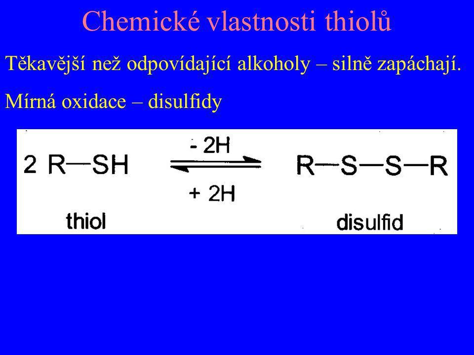 Chemické vlastnosti thiolů