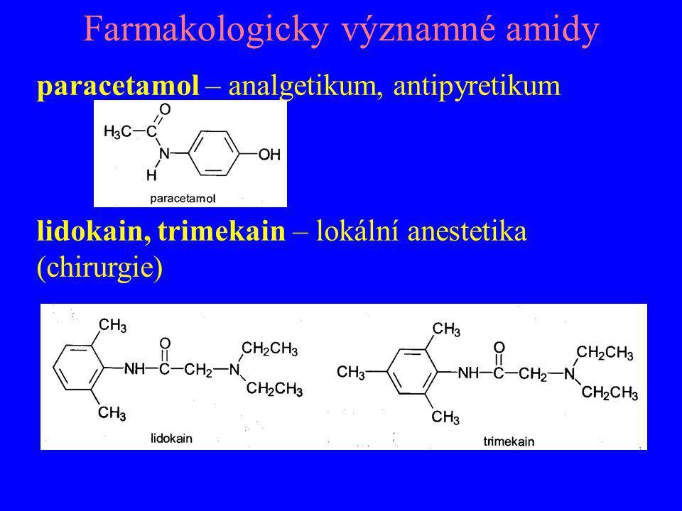 Farmakologicky významné amidy