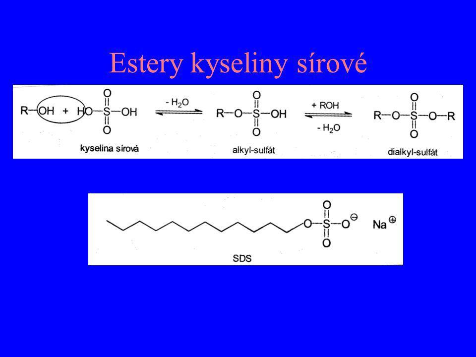 Estery kyseliny sírové