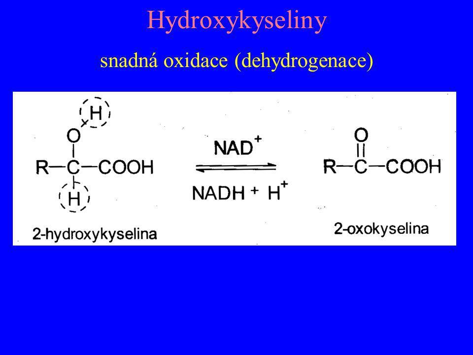 snadná oxidace (dehydrogenace)