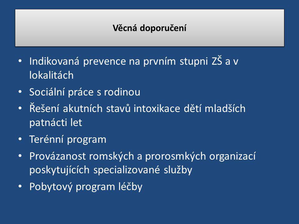 Indikovaná prevence na prvním stupni ZŠ a v lokalitách